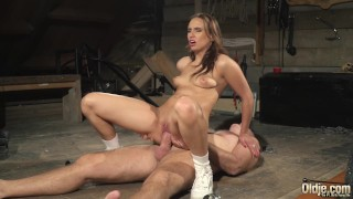 Old man tied up and fucked by