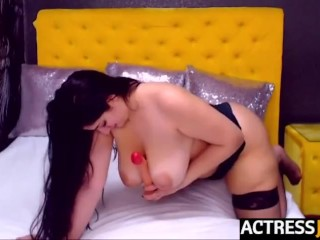 Cam girl HellennaSweet from actressjunky playing with dildo