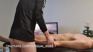 Hot blowjob during an erotic massage