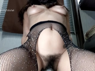 Hairy Pussy Fucked & Stretched Hard with SINNOVATORS VESTAL FISTING DILDO