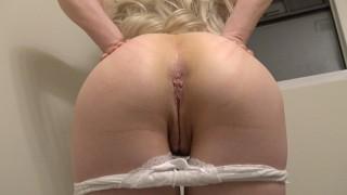 Spread ass cheeks & reveal compilation: Hot blonde milf Ms Fine amateur PMV