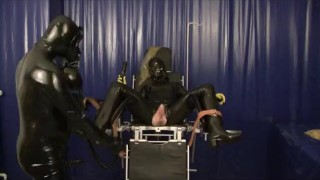 Latex Master And Girl Breathplay Rubber Sheet Fucking Sniffing Dildo