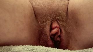 Hairy BBW Dominatrix pissing (golden shower) POV