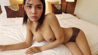 HELLOLADYBOY Thai Asian Ladyboy Begs For Messy Cum