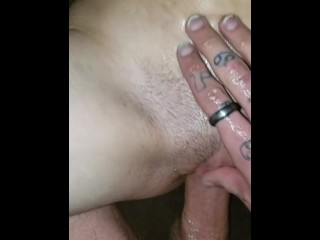 Step sister begs for me to cum in her tight pussy with my big cock