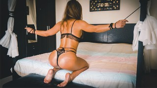 Tied Up Super Hot Gets Hard & Fucked Rough by her Master