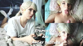 Screen Capture of Video Titled: Stepsister Paid with Her Body for a Broken Gamepad (cum face)❤MollyRedWolf