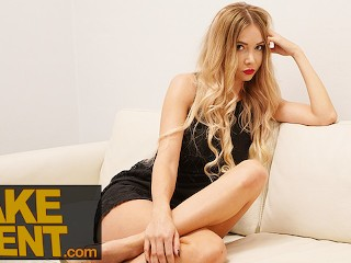 Fake Agent Tall Blonde Russian Polina Max and her amazing sexy legs
