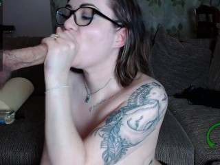 Ms. Vixen Sucks Big Cock and Gets Her Face Covered in Cum