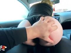 Рыженькая Красотка Отсосала Хуй Таксиста и Проглотила Сперму В Машине - Pov