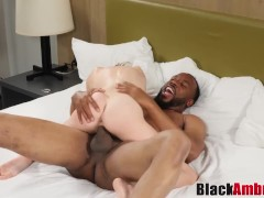 Blonde Catrina by monster BBC and cumshot