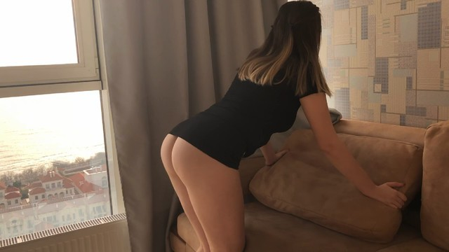 PASSIONATE SEX AND SQUIRT WITH BEAUTIFUL BABE IN HER BLACK DRESS