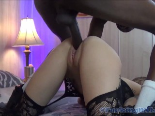 Full  pt 1&2 BBC Cheating Wife Hot MILF First Interracial Threesome Trailer