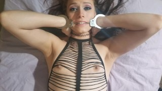 Insane orgasm reactions while tied up!!! Rough clit torture with viberator!