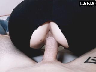 Big ass girl riding a dick in ripped leggings