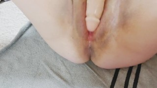 BBW fucks cunt with massive cock (with close up view)