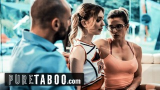 PURE TABOO Cheerleader Into Sex with Coach & Her Husband