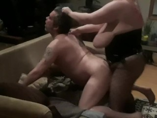 Making hubby my fuck slut pegging his tight ass hard with my strapon cock