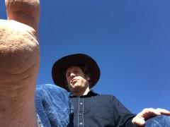 Outdoors Cowboy Dirty Gay Foot Worship & JOI