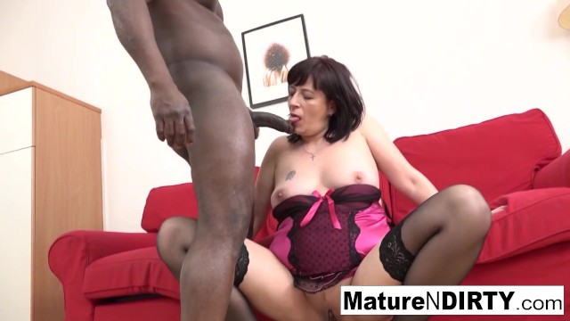 Brunette mature in stockings is anally addicted to BBC!