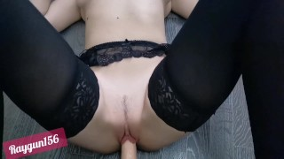 Screen Capture of Video Titled: I need practise to take your big cock for all length