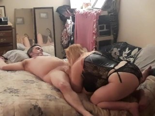 2nd camera view Fucked hard, choked, bj cum in mouth HOT