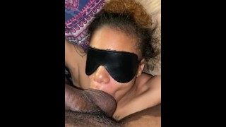 Tied her up, fucked her face, and nutted in her throat..
