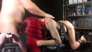Dirty Slut Get Taught A Lesson On The Table! Bring Out The Machine!