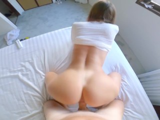 Lily stop lying down-it's time to fuck and cum on your stomach