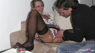 German Step Mom Seduce Young Guy to Fuck and Cum Twice