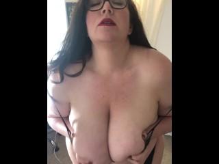 Sexy Busty BBW in Lingerie