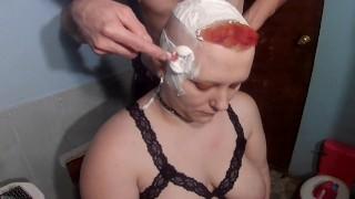 bald bbw chelsea razor shave