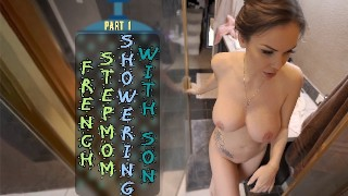 FRENCH stepmom SHOWERING WITH stepson - PART 1 - ImMeganLive - WCA Productions