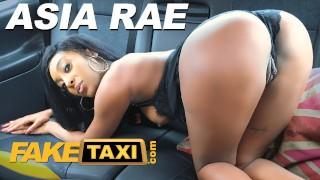 Fake Taxi Ebony babe Asia Rae fucked and sprayed with cum