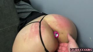 Brunette MILF watching stuck porn drops phone & gets stuck fucked herself