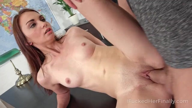 I Fucked Her Finally - Slim cutie gets her orgasms on the table
