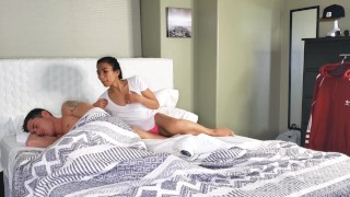 Asian stepsister Shares Bed With stepbrother