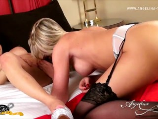 Angelina and Foxxy Suck Each Others Cock