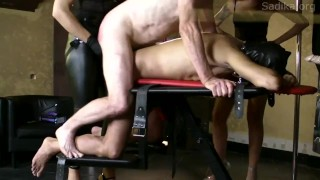 StrapOn Party - 5 Mistress 2 Slaves
