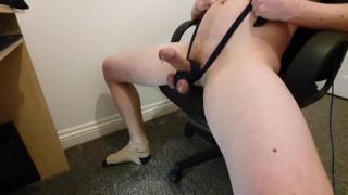 Nice Cock Bondage Tied up Wank with Nice Cum Covered Stroking - TiedToCum