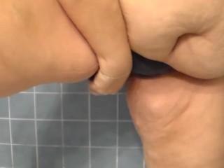 Jen is Peeing her Panties in the Bathtub