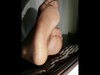 Fishnet soles POV