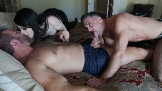 Homemade Bisexual 3 Way Oral stuff in Costumes