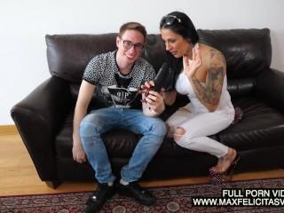 Esordio della splendida pornostar italiana Lolita Ruiz con Max Felicitas e gran ingoio. Video porno italiano pornostar italiane