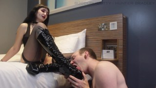 femdom boot + foot worship (preview) -Succubus Kitty