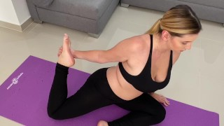 Milf Step Mom Doing Yoga While Quarantine Is Seduced By Her Son