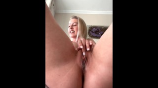 WOW! Shaking orgasm due to clitoral stimulation!
