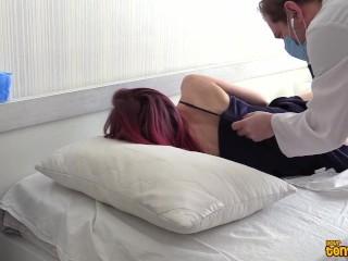 COVID-19 CORONAVIRUS: Risky doctor fucks a horny infected redhead patient