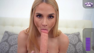 Your hot MILF boss Sarah Vandella , has an edging challenge for you.