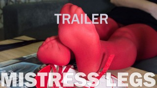 Lick my red nylon feet, slave (preview)